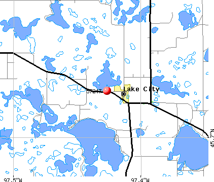 Lake City, SD (57247) map