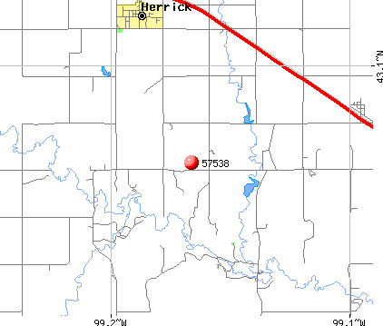 Herrick, SD (57538) map