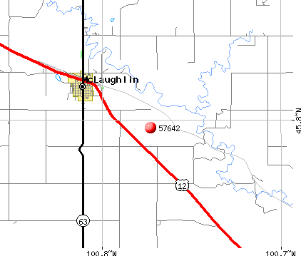 McLaughlin, SD (57642) map