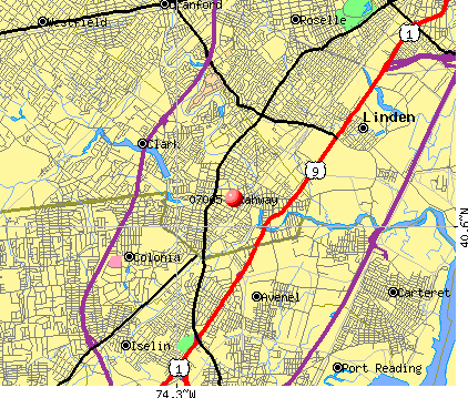 Rahway, NJ (07065) map