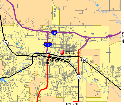 Rapid City, SD (57701) map