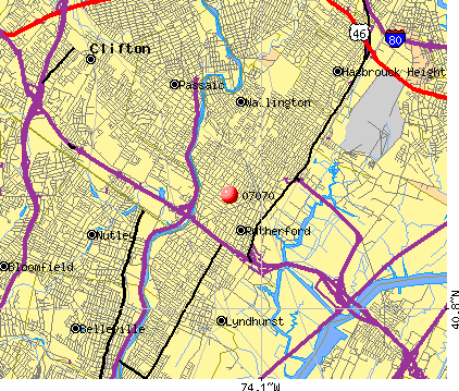 Rutherford, NJ (07070) map
