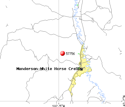 Manderson-White Horse Creek, SD (57756) map