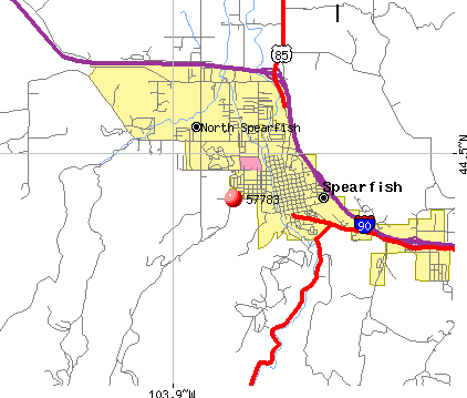 Spearfish, SD (57783) map