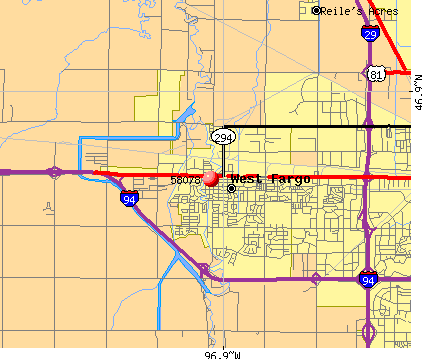 West Fargo, ND (58078) map