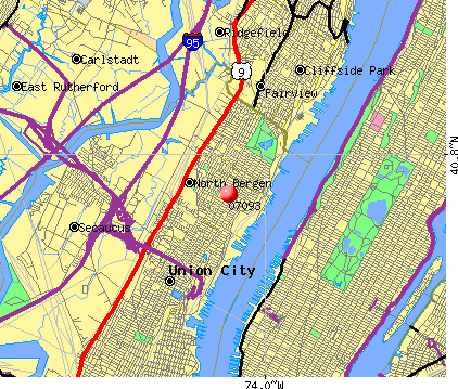 West New York, NJ (07093) map