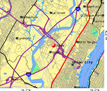 Secaucus, NJ (07094) map