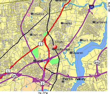 Woodbridge, NJ (07095) map