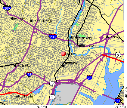 Newark, NJ (07102) map