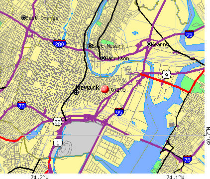 Newark Nj Zip Codes Map Images