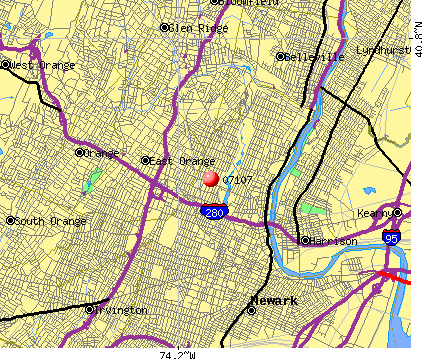 Newark, NJ (07107) map