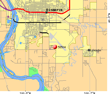 Bismarck, ND (58504) map