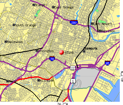 Newark, NJ (07108) map