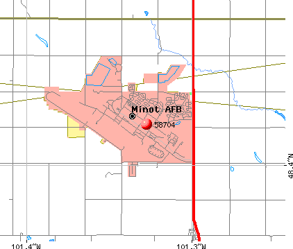 Minot AFB, ND (58704) map