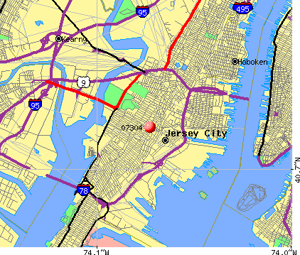 Jersey City New Jersey Map