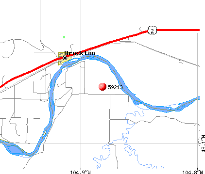 Brockton, MT (59213) map
