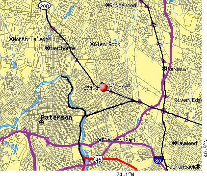 Fair Lawn, NJ (07410) map