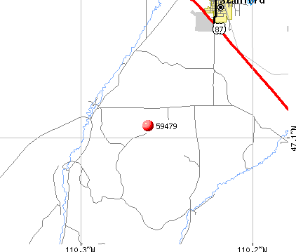 Stanford, MT (59479) map