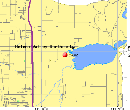 Helena Valley Northeast, MT (59602) map