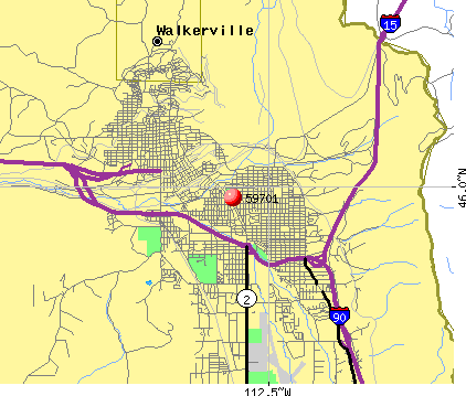 Butte-Silver Bow, MT (59701) map