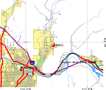 Missoula, MT (59802) map