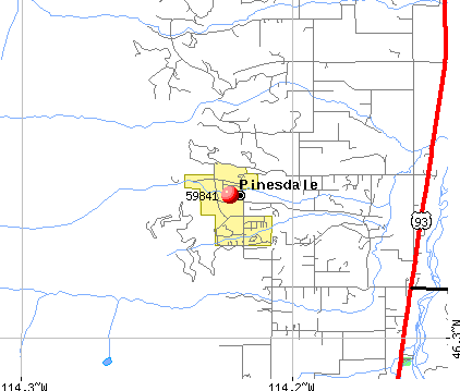 Pinesdale, MT (59841) map