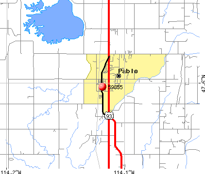 Pablo, MT (59855) map