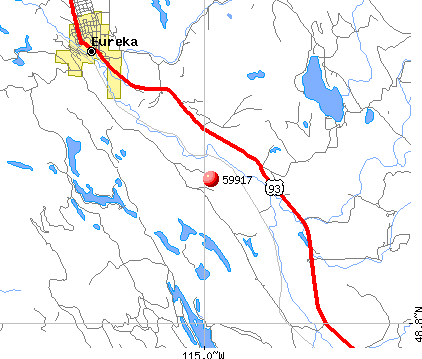 Eureka, MT (59917) map
