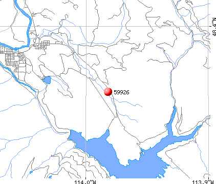 Martin City, MT (59926) map