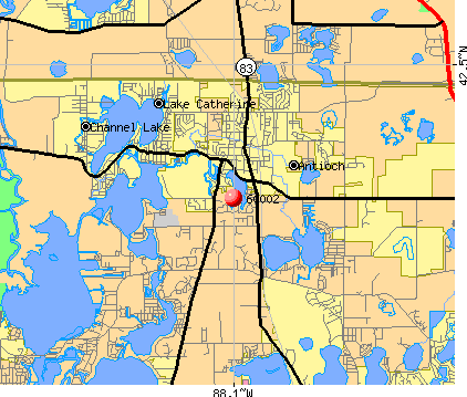 Antioch, IL (60002) map