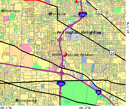 Rolling Meadows, IL (60008) map