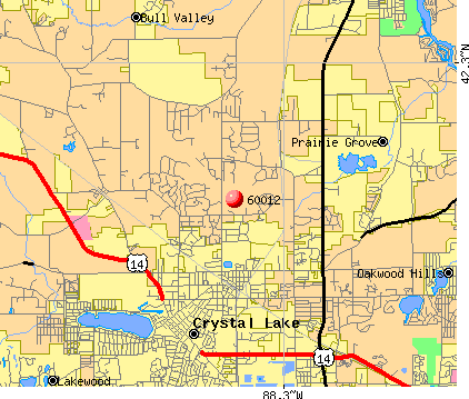 Prairie Grove, IL (60012) map