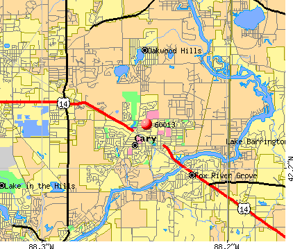 Cary, IL (60013) map