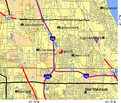 Deerfield, IL (60015) map
