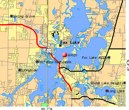 Fox Lake, IL (60020) map