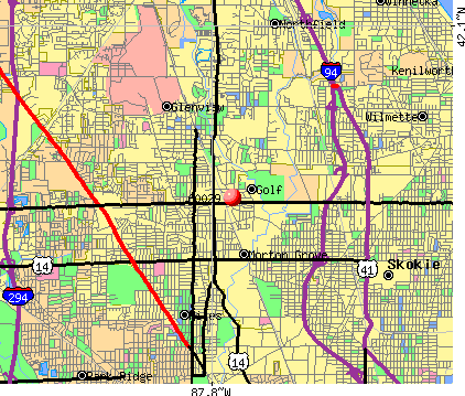 Golf, IL (60029) map