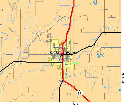 Harvard, IL (60033) map