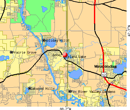Island Lake, IL (60042) map