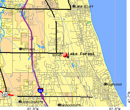 Lake Forest, IL (60045) map