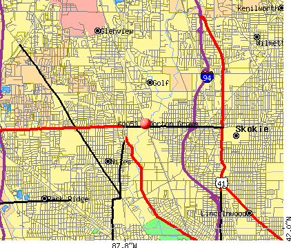 Morton Grove, IL (60053) map