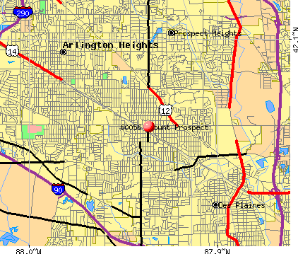 Mount Prospect, IL (60056) map