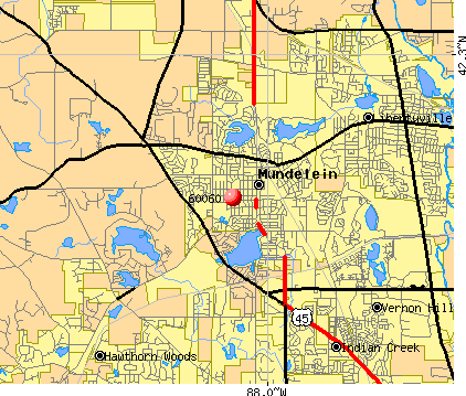 Mundelein, IL (60060) map