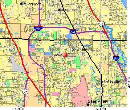 Northbrook, IL (60062) map