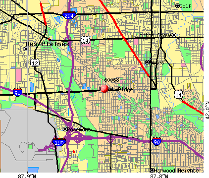 Park Ridge, IL (60068) map