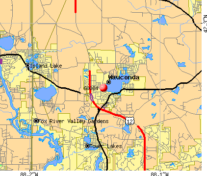 Wauconda, IL (60084) map