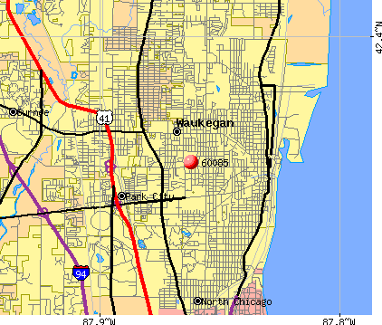 Waukegan, IL (60085) map