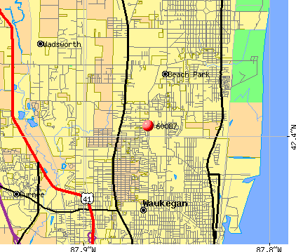 Waukegan, IL (60087) map