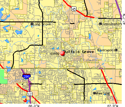 Buffalo Grove, IL (60089) map