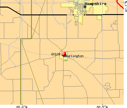 Burlington, IL (60109) map