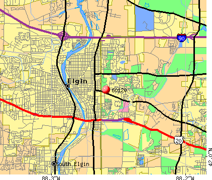 Elgin, IL (60120) map